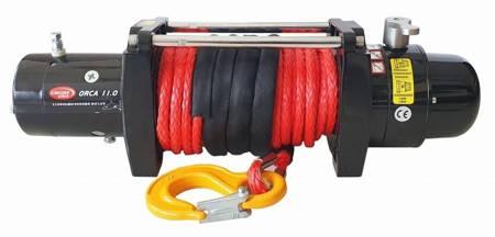 Wyciągarka KingOne ORCA 11.0 [4990kg] z liną syntetyczną 12V (lina: 10mm 25m w oplocie 10400 kg +hak) 81877873
