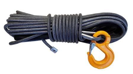 Wyciągarka KingOne TDS-9.5H 9500 lbs [4309kg] z liną syntetyczną 12V (lina: 10 mm w oplocie z dużym hakiem 25m) 81877887