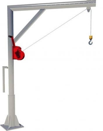 Żuraw słupowy z wciągarką ręczną (udźwig: 400 kg) 95876762